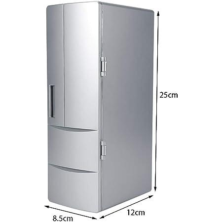fasient Mini Fridge Freezer Mini Fridge Drink Cooler Warmer USB Fridge, Refrigerator, Fridge, for Home for Office Car