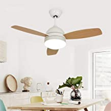QUKAU Fan lamp Ceiling 42inch Remote Control Home Simple Modern Living Room Bedroom lamp Creative Restaurant Fan Lighting (White)