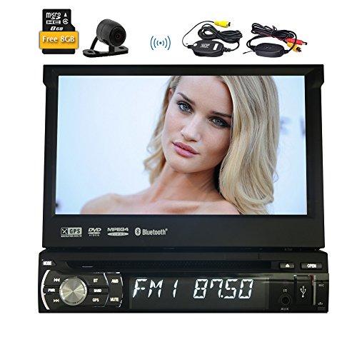 Eincar Universale 1 DIN lettore DVD 7'touchscreen nuovo quadro Radio autoradio unit¨¤ principale di Windows CE GPS Sat Nav supporto offline navigazione Bluetooth/RDS/controllo del volante Su