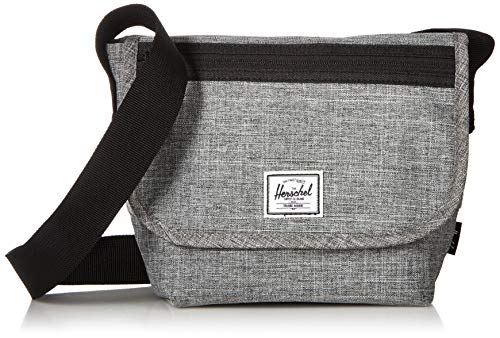 Herschel Grade Messenger Bag, Raven Crosshatch, Mini