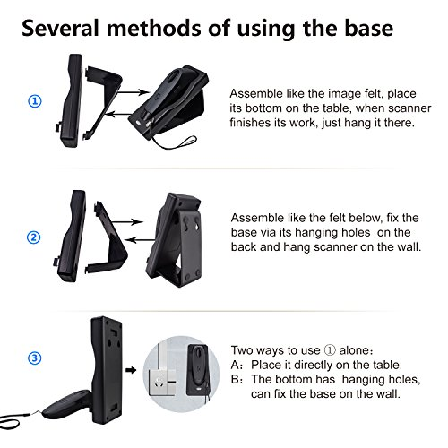 Bluetooth Wireless Barcode Scanner Handheld Portable Bar-Code Reader Entries Enable Keyboard Entry,Computer Screen Barcode Scanner