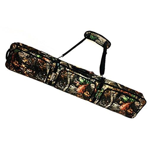 Sport Tent-Professionelle Snowboardtasche Skitasche Set mit Schuhfach/Helmfach Snowboardbag gepolsterter Skisack Board Bag Space Sack 156cm/166cm (156cm, Tarnung1)