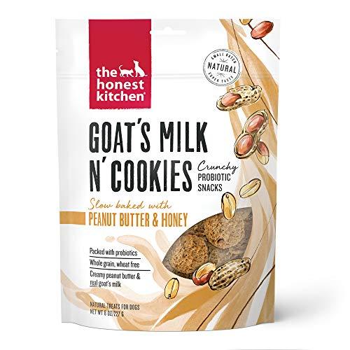 The Honest Kitchen Goat's Milk N' Cookies Crunchy Probiotic Snacks - Goat's Milk, Peanut Butter & Honey, 8 oz. Bag