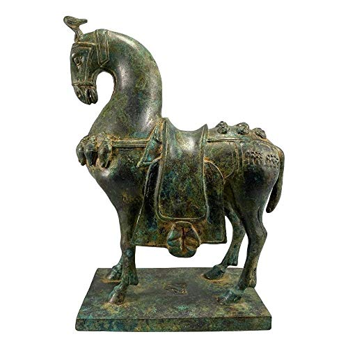 LAOJUNLU Caballo De Silla De Bronce De Los Estados En Guerra Colección de Obras maestras de Bronce Antiguo huérfanos Decoraciones de Estilo Tradicional Chino