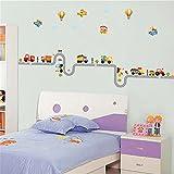 ufengke® Comic-Auto Flugzeug Heißluftballon Wandsticker,Kinderzimmer Babyzimmer Entfernbare Wandtattoos Wandbilder