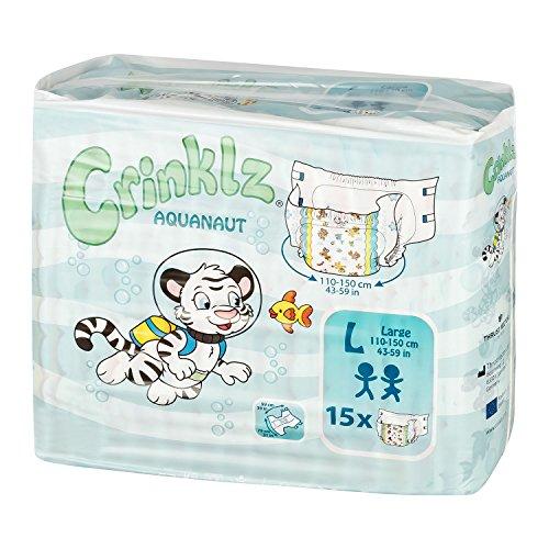 Crinklz Aquanaut Large - Packung mit 15 Stück