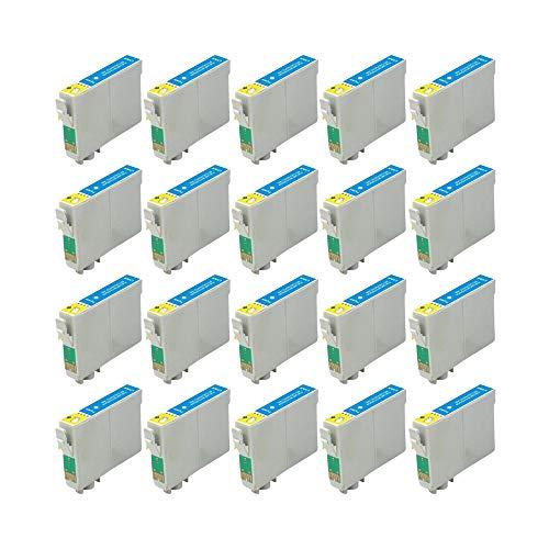 RudyTwos - Juego de 20 unidades de tinta para Epson Seahorse compatible con Stylus Photo R200, R220, R300, R300M, R320, R325, R330, R340, R350, RX300, RX320, RX500, RX600, RX644 0