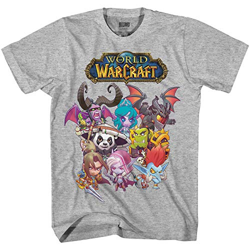 World of Warcraft Mens Shirt - The Greatest Adventure Ever - Official T-Shirt (Heather Grey, Small)
