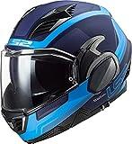 LS2 Valiant II Orbit Casco de Moto, Hombre, Azul Mate, L