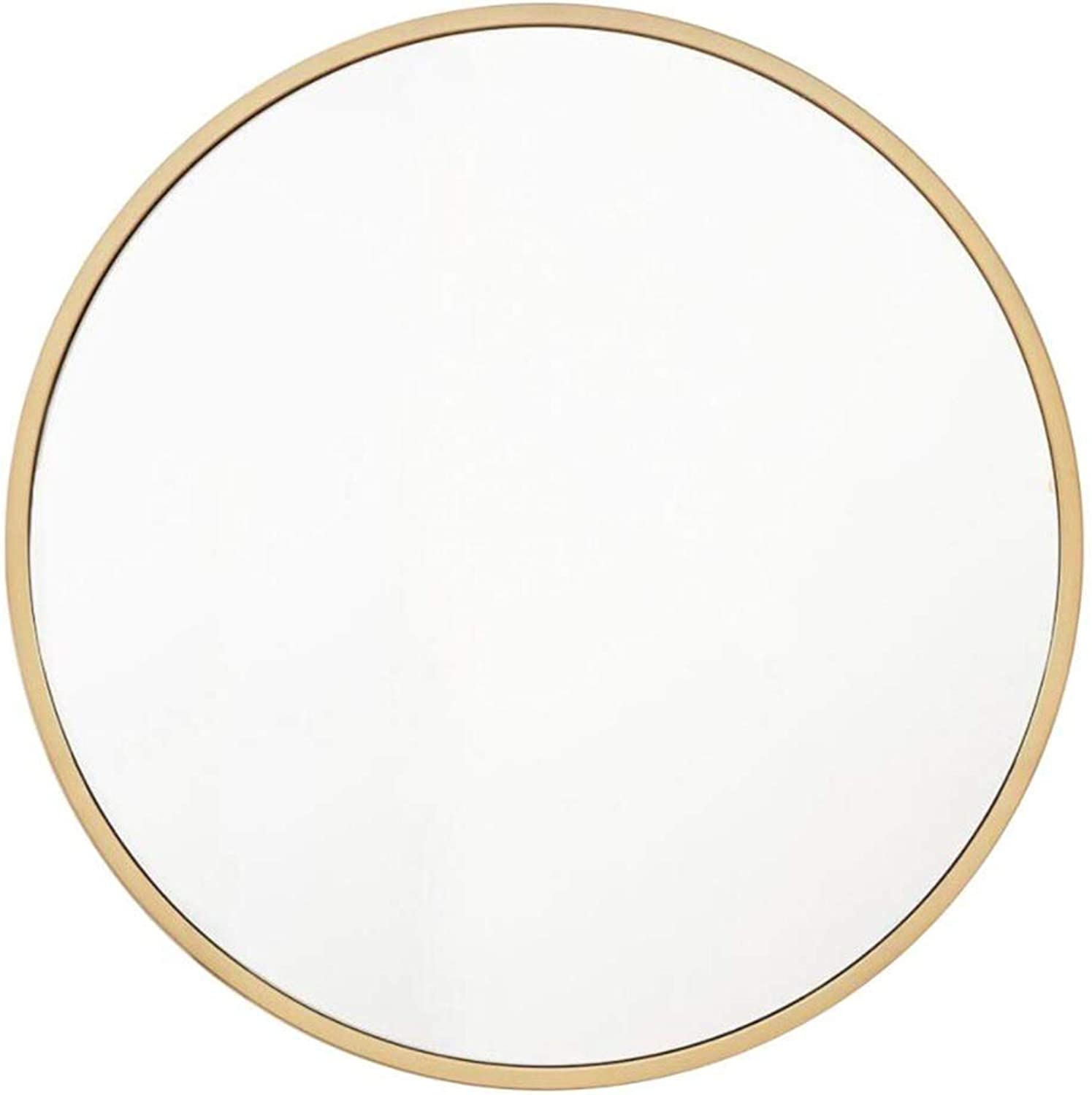 XIUXIU Mirror Family Simple Round Vanity Mirror Floating Floating Mirror (color   gold, Size   40cm)