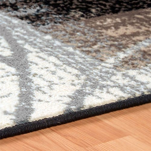 SUPERIOR Pastiche Collection Area Rug - Jute Backing, Geometric Modern Area Rug, Neutral Color, Affordable Rug, 5' x 8'