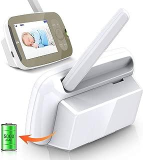 5000mAh Replacement Battery Mount Holder for Infant Optics DXR-8 Monitor