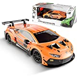 Remote Control Car - 2.4Ghz 1:24 Scale Orange RC Car Lambo GT3 Electric Sport Racing Hobby Toy Car Model Vehicle for Adults,Girls,Boys 8-12 Gift, BEZGAR X JIAN FENG Yuan Licensed RC Series