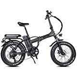 Rattan 48V 750W Electric Bike for Adults Folding Bikes 4.0 Fat Tire Bikes 13AH Removable Lithium-ion Battery E-Bikes 7 Speed Shifter Electric Bicycle
