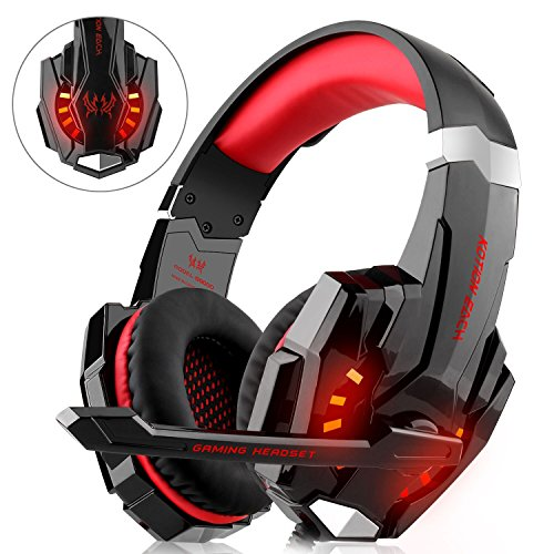 Diza100 - Set cuffie per videogiochi, per PS4, Xbox One, PC, Mac, Nintendo Switch, con microfono,...
