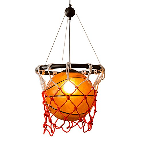 Vintage lampen pendelleuchte vintage pendelleuchte Basketball-Glasleuchter American Retro-Kunst-DIY gesponnene hängende Lampen Restaurant Bar Sport-Thema-Park-Stadion Basketball-Netz-Deckenleuchte
