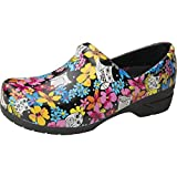 Anywear SRANGEL Women's Healthcare Professional Closed Back Clog, 7, Fine Feathered Friends
