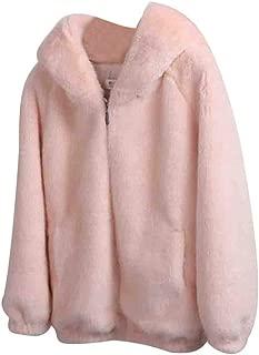 Women Hooded Coat Winter Warm Thick Solid Plush Padded Jackets Cardigan Loose Imitation Mink Short Overcoat E-Scenery