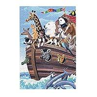 300ピース ジグソーパズル 動物の冒険 大海 木製ジグソーパズル Puzzle (38.3x26cm)
