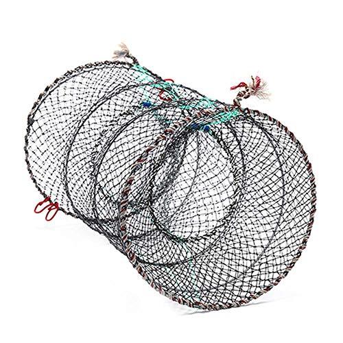 FGASAD - Trampa de pesca plegable, portátil, para cangrejo, cangrejo, cangrejo, cangrejo, cangrejo, cebo, pez, cangrejo, langosta, peces, camarones, nailon, como en la imagen, 33*60cm