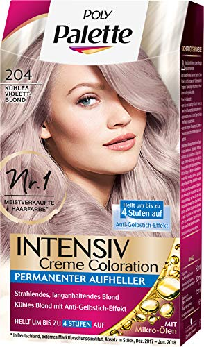 Poly Palette Intensiv Creme Coloration 204 Kühles Violet Blond, 1er Pack (1 x 115 ml)