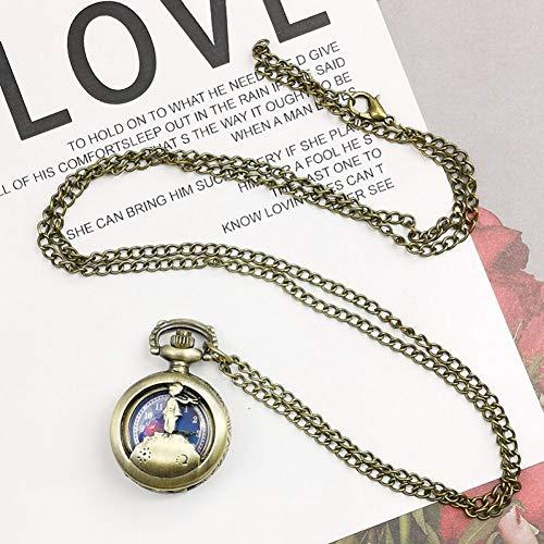 ERDING Reloj Bolsillo,Colgante de Collar Moderno clásico Alicia en el país de Las Maravillas Reloj de Bolsillo de Moda Mujer Regalos para niños Reloj de Cuarz