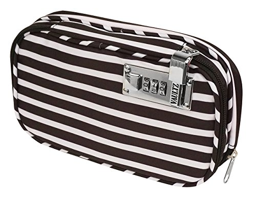 Vaultz VZ03816 Locking Diabetic/Medicine Soft Organizer Case, Multiple Zipper Pockets, Combination...