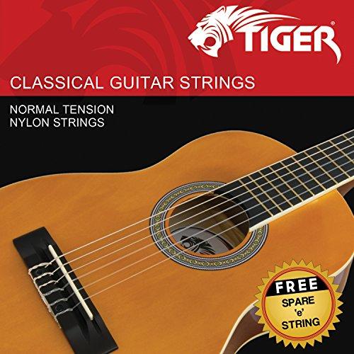Tiger Classical Guitar Strings - Normal Tension Nylon Strings - Anti Rust