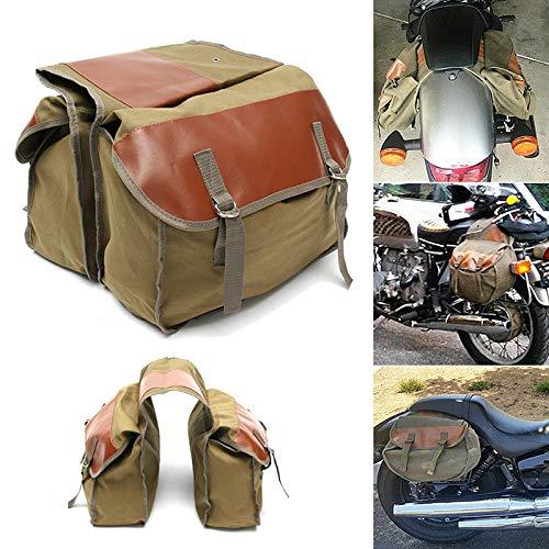BESTEU Borsa Sacchetto da Viaggio Zaino da Trasporto per Harley Sportster Honda Suzuki Tail Equine