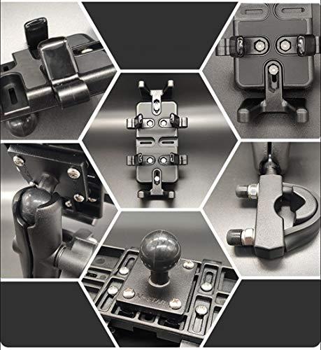 ニコマクNikoMakuバイクスマホホルダーアルミ製汎用性、固定力抜群横長さ92mm、厚さは41mmまで対応ドラレコ、ナビ、トランシーバーも固定可能独特のU型クランプブラック