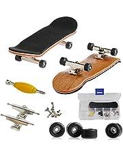 AumoToo Mini Diapasón, Patineta de Dedos Profesional Maple Wood DIY Assembly Skate Boarding Toy Juegos de Deportes Niños