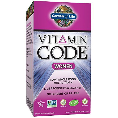 Garden of Life Multivitamin for Women - Vitamin Code Womens Raw Whole Food Vitamin Supplement with Probiotics, Vegetarian, 240 Count