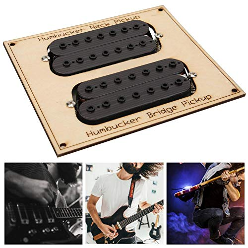 Neufday Pastilla de Guitarra eléctrica, GMD08 Pastilla de Guitarra eléctrica de 7 Cuerdas Pedal Guitarra de Acero Pastilla de Cuello Humbucker Bridge