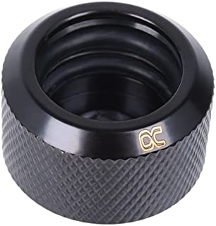 Alphacool 17264 Eiszapfen 16mm HardTube Compression Fitting G1/4 - knurled - deep Black Water Cooling Fittings