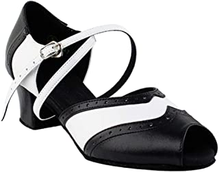 Ladies Women Ballroom Dance Shoes from Very Fine C6035 Black & White 1.6