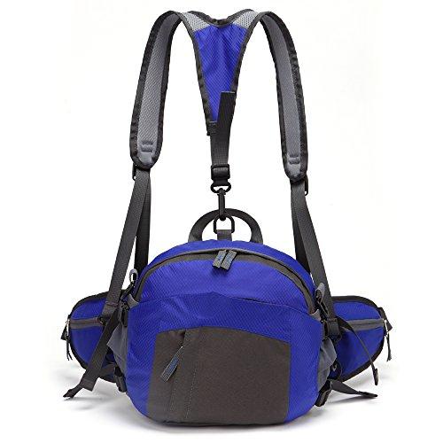 TOMOUNT Sac Sacoche banane Bandoulière étanche multifonctions Sport Voyage camping-Bleu