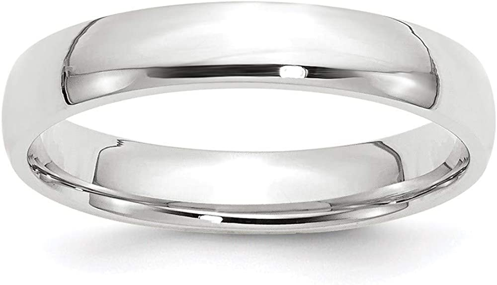 10 White Gold 4mm Comfort Fit Wedding Ring Band Size 10.5 Classic Fashion Jewelry For Women Gifts For Her