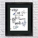 Gotham TV Cast Autographed Signed Reprint 8.5x11 Script UNFRAMED - David Mazouz, Ben McKenzie, Camren Bicondova, Donal Logue, Sean Pertwee