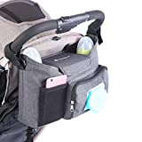 LittleXplorer Baby Stroller Organizer: Wet Wipes Dispenser Pocket - Stroller Cup Holders - Baby Diaper Caddy Organizer - Easy Attach Stroller Accessory with Two Ways to Carry - Baby-Shower Gift