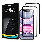 ESR 2 Unidades, Protector de Pantalla Compatible con iPhone 11/iPhone XR 6.1', 3D Cobertura Completa, Antiarañazos, Antihuellas, Sin Burbujas, Cristal Vidrio Templado 9H
