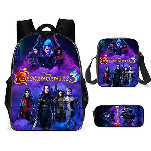 Petainer Set de Mochilas Infantiles AnimeDescendientesBackpack 3  G