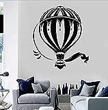 Etiqueta de la pared Globo Agencia de viajes Viajes Aventura Tema Dormitorio de los niños Guardería Decoración del hogar Arte Vinilo Etiqueta de la pared 42X47 cm