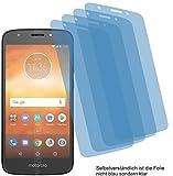 4ProTec I 4X Crystal Clear klar Schutzfolie für Motorola Moto E5 Play Bildschirmschutzfolie Displayschutzfolie Schutzhülle Bildschirmschutz Bildschirmfolie Folie