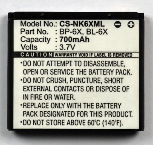 Batteria per Nokia 8800 Sirocco Edition Lion 700mAh (Tipo BP-6X - BL-6X)