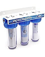 Naturewater NW-BR10B4 3-traps filter 1 inch (32,89mm) Sedimentfilter, Actief Koolstofblok, moersleutel