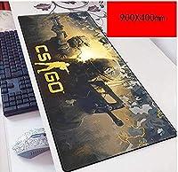 マウスパッド特殊なテクスチャ表面900X400mmマウスパッド、完璧な精度と速度のゲーミングマウスマット3mm厚ベースノートブック、PC D