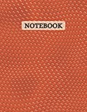 Notebook: Orange Snakeskin print notebook   Lined Notebook 120 pages   Journal Gift   8.5 x 11 size