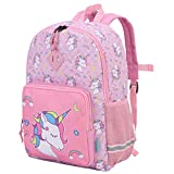 Kids Backpack,VONXURY Cute Lightweight Toddler Preschool Backpack for Little Boys Girls with Chest Buckle,Pink Unicorn