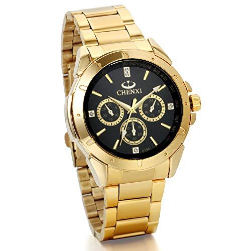 Reloj caballero dorado | Mejor Precio de 2020