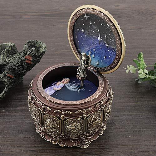 Jeffergarden Caja de música Vintage con 12 Constelaciones, Diosa giratoria, luz LED Parpadeante (Gemini)